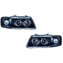Farol Projector Angel Eyes Led Audi A3 96/06 Black