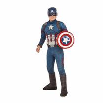 Marvel Traje De Capitan America Disfraz Rubies Niño 5/7 Años