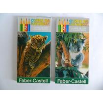 Lote 2 Caixas Lápis De Cor C/12 Cores Faber Castell Sem Uso