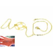 Pulsera Anillo Árabe De Acero Dorado Reloj Número Romanos