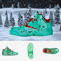 Zapatillas Nike Lebron 11 Christmas Original Niños