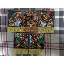 Yugioh Exodia Completo Dragão Alado Rá Obelisco Slifer Carta