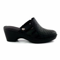 Zueco Mujer Cuero Cavatini Zapato Goma Confort - Mcsu48012