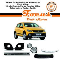 Kit Gol G5 Rallye Grade/molduras/farol Milha/faixas/spoiler