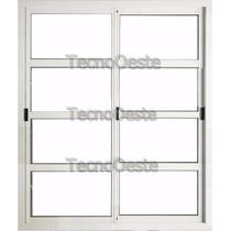 Puerta Ventana 150x200 Aluminio Blanco Horizontal Tecnooeste