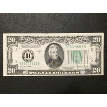 Billete 20 Dolares Estados Unidos De 1934 Sello New York