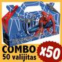 Spiderman Hombre Araña Cajita Valijita Bolsita Combo X50