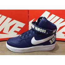 Nike Air Force Word Supreme1 Bota Cano Alto +frete Gratuito