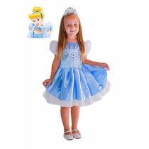 Fantasia Princesa Cinderela Verão 2017 + Coroa