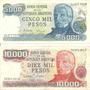 Billetes 5000 Y 1000 Pesos República Argentina