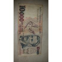 Cédula Dez Mil Cruzeiros Brasil
