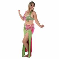Vestido Dança Do Ventre.lindo! Usado Uma Única Vez.