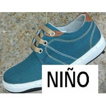 Zapatos Infantiles Y Juveniles Niños Color Azul Envio Gratis