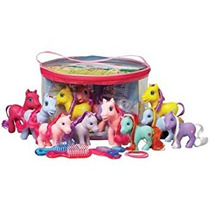 Juguete Lote De 9 My Little Pony Potros Con El Pelo Real Co