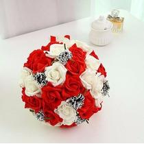 Ramo Para Novia Xv Años - Incrustaciones Bouquet Rojo