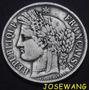 5 Francs, Moneda Antigua De Francesa Del Año 1849 Plata