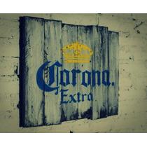 Letrero En Madera Corona Extra Vintage