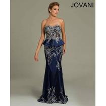 Vestido Fiesta Noche Alta Costura Jovani Talla 12 $980 Dlls