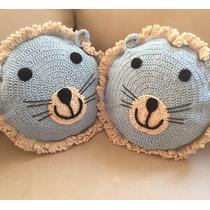 Almohadón Tejido Crochet Animalitos