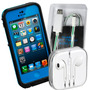 Combo Iphone 5/5s Audifonos Lifeproof Bumper Cable Dato Usb
