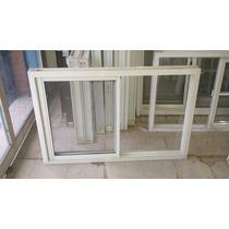 Ventana Aluminio Blanco De 120x080 Con Vidrio Linea Herrero
