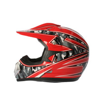 Casco Zpf Motocros Rojo M Dp903