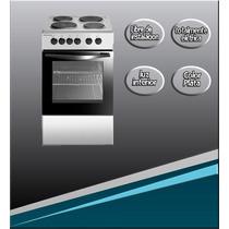 Cocina Electrica Philco 50 Cm 4 Hornallas Color Plata Oferta