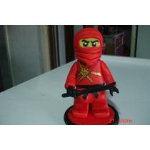 Lego Ninjago Adorno Para Torta En Porcelana Fria