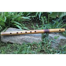 Flauta Traversa De Bambú - Quena Traversa - Artesanal