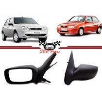 Retrovisor Fiesta 1997 1998 99 2000 2001 2002 Manual Esquerd