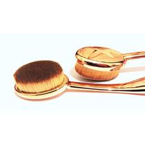 Pincel Oval P/ Pó- Blush- Base- Corretivo -maquiagem - Ouro