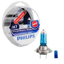 Lâmpada Philips Crystal Vision Ultra H7 Super Branca - Par