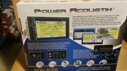 Autoestereo Power Acoustik Pdn-626b, Dvd, Gps, Bluetooth - $ 3,899.00 en Mercado Libre