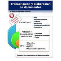 Transcripción De Documentos, Trabajos, Informes