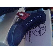 Bota Zapato Romano De Caballero Corte Alto Negro Piel