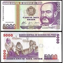 Peru Billete De 5000 Soles De Oro 1988 Sin Circular Pesca