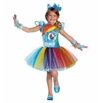 Disfraz Niña My Little Pony Rainbow Dash Talla 2 A 3 Años