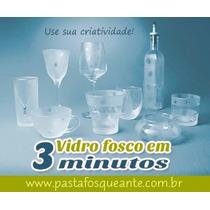 Pasta Fosqueante Gravação Vidro Artezanato Em Vidro