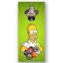 Abridor De Garrafas Magnético Para Parede, Imã Homer Simpson