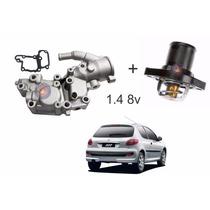 Carcaça Com Valvula Termostática Peugeot 206 207 1.4 8v