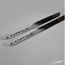 Protetor 3d Soleira 2 Portas Carro Chevrolet Pick Up Corsa