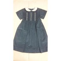 Vestido Para Nena De Corderoy Con Detalle De Bordado