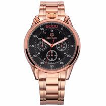 Relógio Megir Luxo Com Cronógrafo
