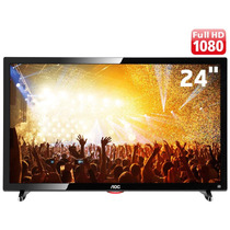 Tv Monitor Aoc Led 24 - Full Hd - Conversor Digital - Usb