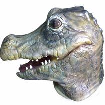 Máscara Reptiliano Cocodrilo Disfraz Halloween Fiesta Latex