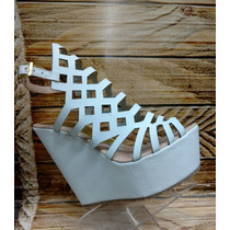 Lindo Calzado Plataforma Blanco Damas Mujeres Envio Gratis