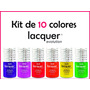 Kit Lacquer Evolution 10 Colores 8 Ml ( Gel Gelish Esmalte )