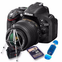 Nikon D5200 Kit 18-55m 16gb C10, Trípode, Bolso, Lector, Env