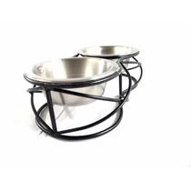 Comedouro Cães E Gatos Pote Inox Duplo Comida Agua -m4