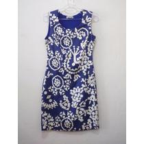 Vestido Maria Antônia - Azul Bic C/off - Forrado - C/zíper